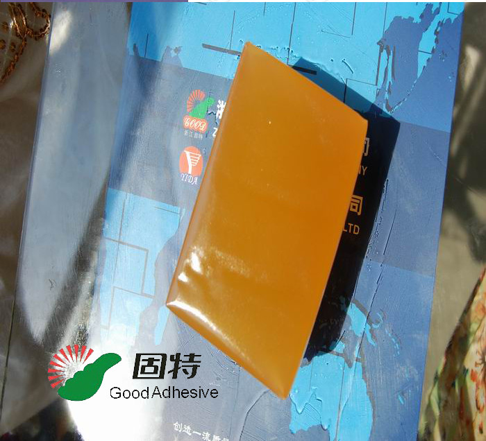 Yellow Block Envelope Hot Melt Adhesive Packaging Strong Bonding Strength